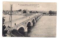environs d'angers ,les ponts ce cé ,le grand pont dumnacus sur la loire