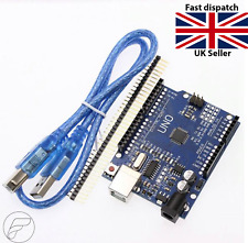 Arduino Uno R3, Rev3, 328, ATmega328P, CH340G Compatible Board With Pins TESTED