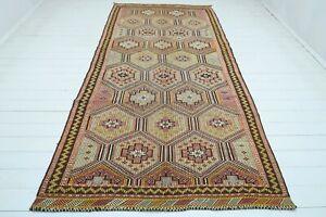 """Turkish Mut Kilim Rug, Area Rugs, Diningroom Rug, Carpet Teppiche Kelim 59""""x127"""""""