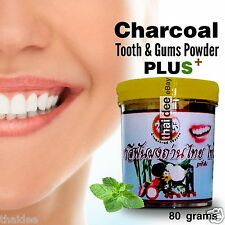 80g Charcoal Clove Whitening Tooth Gum Powder Peppermint Toothpaste Fresh Breath
