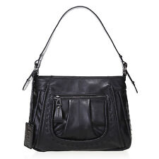New Lusso Genuine Italian Vintage  Leather Handbag - Stunning Black!