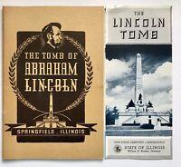 The Lincoln Tomb Illinois Advertisement Souvenir Springfield Illinois Booklet