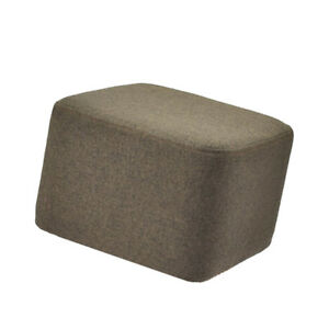 Modern Wood Footstool Ottoman Square Pouffe Stool Cover Slipcover Coffee