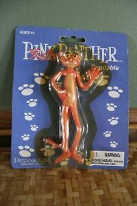 """RARE Pink Panther Bendable Keychain Toy- NIP from 2002 - Precious Kids 5"""""""