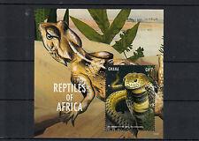 Ghana 2013 MNH Reptiles of Africa II 1v S/S Snakes Mozambique Spitting Cobra