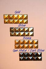 1000 Pieces 10mm Hotfix Iron On Glue on Pyramid Flat Back Studs Studded iPhone