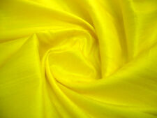 YELLOW 100% SILK DUPIONI FABRIC BTY DRESS CRAFT DRAPE KIMONO COSTUME