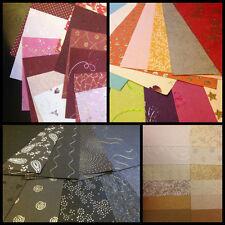 12 Sheet Pack - Handmade Craft Paper - Five Styles - Mulberry, Embossed Metallic