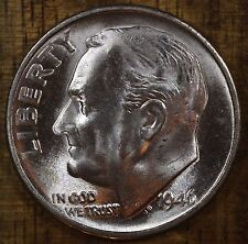 1946 S Roosevelt Dime CH BU LUSTER! 90% Silver US Coin From OBW Rolls