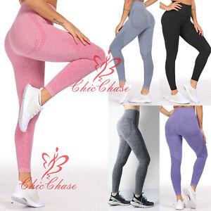 UK Women's Vital Seamless Leggings Gym Sportswear Yoga Running Training Fitness