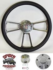 "1966 Chevelle Malibu steering wheel SS 13 3/4"" POLISHED BILLET"