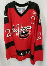 Auto Reebok Authentic ECHL Las Vegas Wranglers Mike McBain 2 Game Jersey 54 2XL