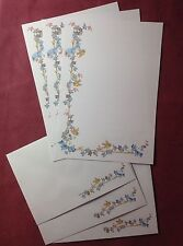 Forget me not flowers (lined) Letter Writing Paper & Envelopes standard size