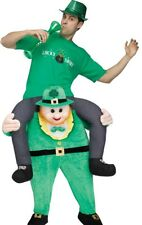 Leprechaun Costume Carry Me Ride On Irish St. St Patricks Day Buddy Mens Funny