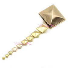 50/100/200pcs Pyramid Spikes 4mm-35mm Studs Gold Silver Copper Black Spots DIY