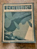 VINTAGE FORTUNE MAGAZINE MARCH 1934 / AD's / Yale / Cockfighting / Zinc