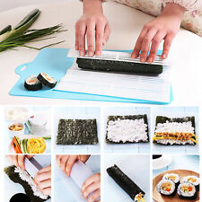 Sushi Maker Kit Rice Roll Plastic Mold DIY Mould Roller Mat Paddle For Kitchen