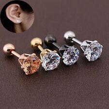 Fashion Women Drop Jewelry Ear Stud Titanium Steel Cubic Zirconia Earrings
