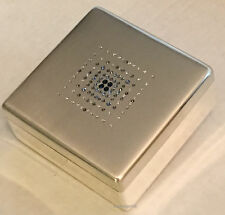 Swarovski Keepsake Box With Blue and Clear Crystals, Felt Lined Jewelry Box, New