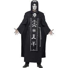 Men's One Size Dark Arts Ritual Cult Leader Halloween Black Fancy Dress Costume
