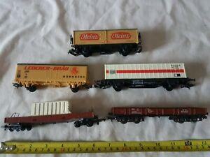HO/OO GAUGE 5 LIMA WAGONS  HAVE MISSING PARTS (D33)