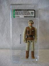 AFA 80 vintage Star Wars REBEL SOLDIER Hoth figure Kenner 1980 MOLDED BOOTS Rare