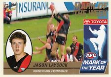 Select 2005 Tradition JASON LAYCOCK Essendon Bombers  Mark of the Year card