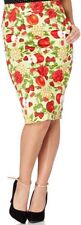 Cotton Blend Party Straight, Pencil Floral Skirts for Women