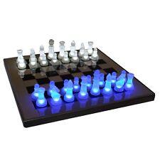LumiSource Sup-ledches-bw LED Lightened Glow Chess Set Blue/white S