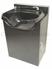 Shampoo Bowl Round Sink Black Cabinet Spa Salon Equipment TLC-B12-KRGT-FC