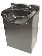 Shampoo Bowl Round Sink Black Cabinet Spa Salon Equipment Tlc-B12-Krgt-Fc