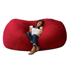 Big Bean Bag Chairs for Adults Teens Large Giant Dorm Furniture Kids Rooms - Red