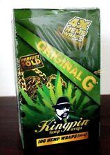 Kingpin Hemp Wraps Original 25 Packs~4pk = 100 total~Factory Sealed