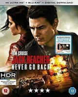 Jack Reacher Never Go Back 4K UHD Blu-ray  Blu-ray  Digital Download [2016] NEW