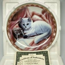 1994 Tabitha On Taffeta, Coa Bradford Exchange Cat Plate Bradex #84-B10-127.2