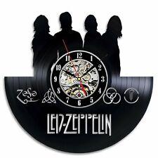 Led Zeppelin Vinyl Wall Clock Record Gift Decor Sing Feast Day Woman Man