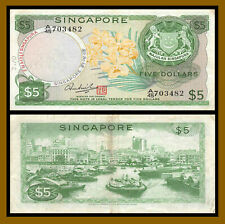 Singapore 5 Dollars, 1973 P-2d Red Seal Very Fine (VF)