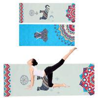 Non-Slip Yoga Mat Towel Fitness Gym Elephant Printed Blanket Carpet 72''x25''