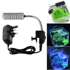 Aquarium Fish Tank Clip on Flexible 24-LED Light Lamp with Power Adapter UK-plug