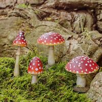 Mushroom or Toadstool Garden Ornaments Realistic Mushrooms Ideal Fairy Garden