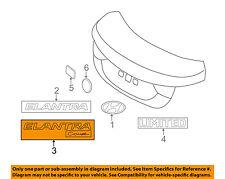 HYUNDAI OEM 13-14 Elantra Coupe Trunk Lid-Emblem Badge Nameplate 863113X500