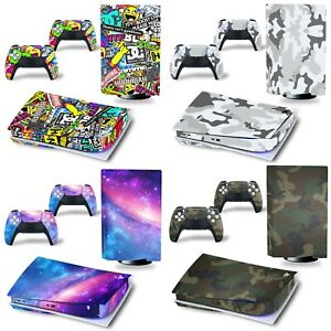 Playstation 5 PS5 Console Skin Vinyl Cover Decal Sticker + 2 Controller Full