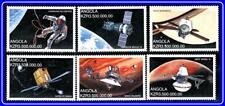 ANGOLA = ASTRONOMY / SPACE x6 STAMPS MNH neuf SOYUZ, APOLLO, PLANETS