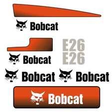 E26 DECALS E26 Stickers Bobcat E26 Decal STICKER Kit Mini Excavator
