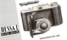1953 VOIGTLANDER BESSA I CAMERA 3-1/4x2-1/4 & 2-1/4x1-5/8 INSTRUCTION MANUAL
