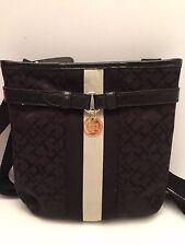 TOMMY HILFIGER XBody Messenger Bag *Black Gold Tone* Shoulder Purse