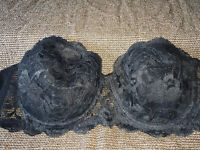 36C Vintage SEARS Strapless Padded Push-Up Hollywood Star Lace Womens CD Bra