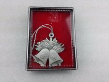 Pewter Bell Christmas Ornament Made in Canada *