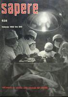 SAPERE N.638 1963 LA CHIRURGIA DEL CERVELLO