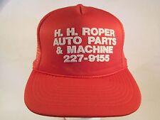 Vintage Mens Cap H H ROPER AUTO PARTS San Antonio, Texas (Red) [Z84c]